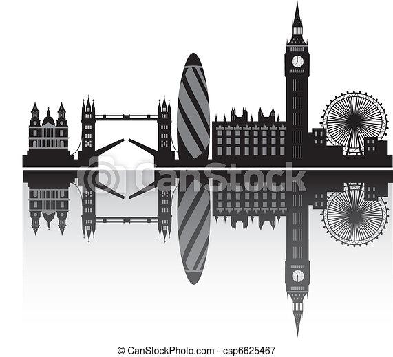 london skyline in detail - csp6625467