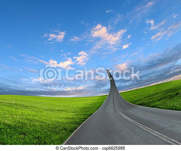 highway road going up - csp6625988