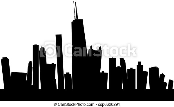 Chicago Skyline Drawings Wobbly Chicago Skyline