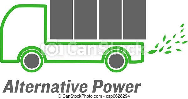 vector alternative power truck - csp6628294