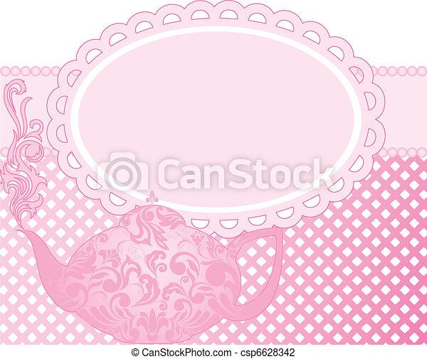 pink teapot - csp6628342