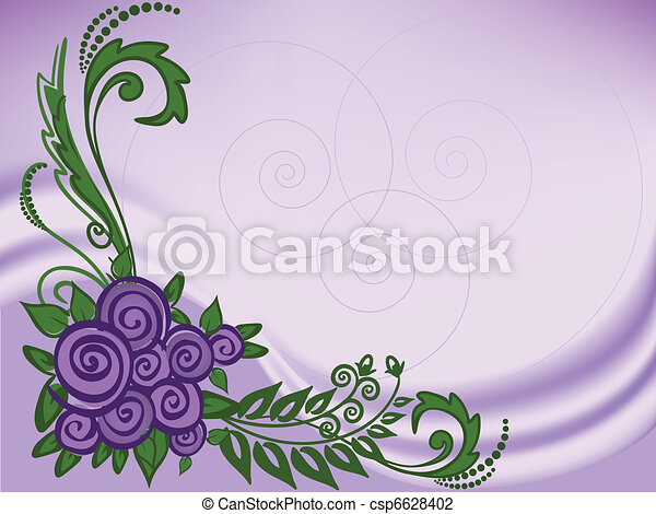 lila, Plano de fondo, rosas - csp6628402