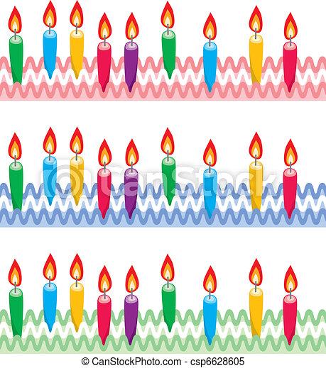 Vecteur clipart de vecteur bougies rang es g teau - Dessin bougies anniversaire ...