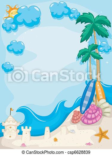 Summer Beach Background - csp6628839