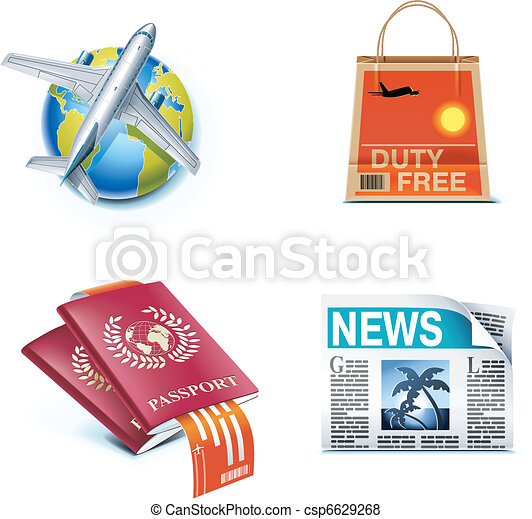 Travel and vacations icons. P.1 - csp6629268