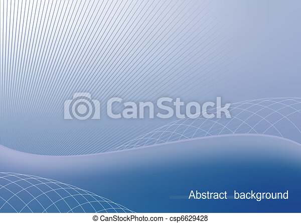Illustration the blue abstract background for design business card and invitation company style - vector - csp6629428