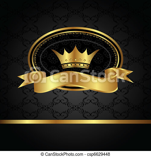 royal background with golden frame - csp6629448