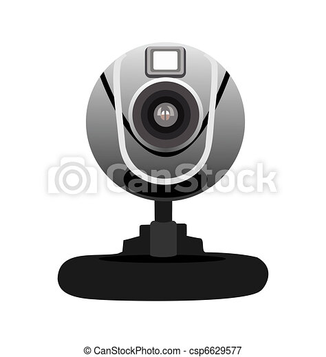 Realistic illustration of web camera - csp6629577