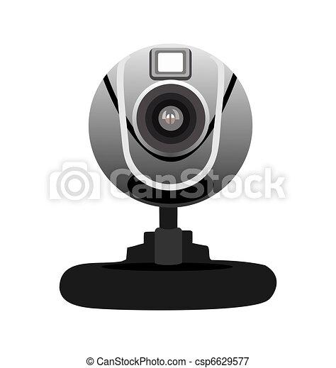 Realistic illustration of web camera - csp6629577