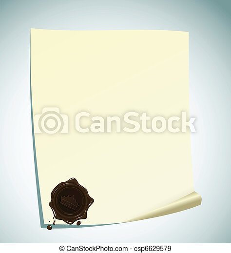 Eps vectors of illustration of paper with brown wax for Drawing on wax paper