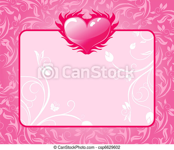 congratulation card with heart for Valentine's day - csp6629602