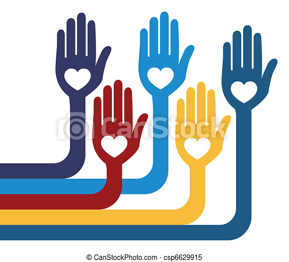 A united group of loving hands. - csp6629915