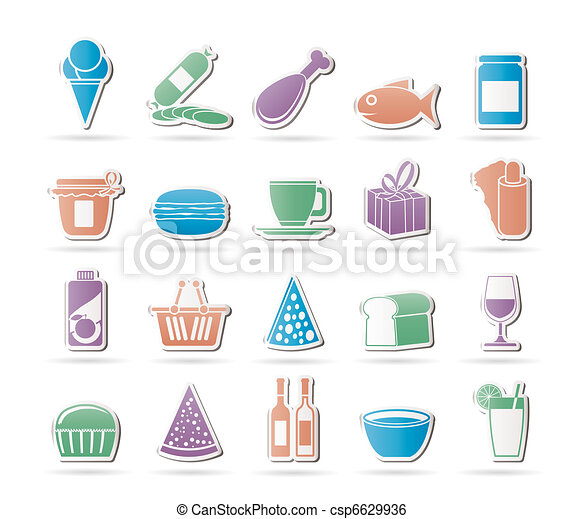 Shop and Foods Icons - csp6629936