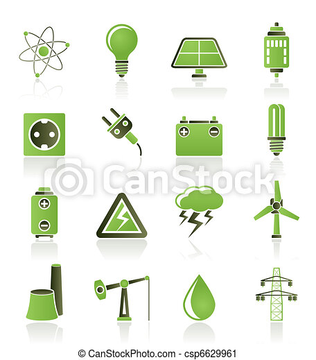 Power and electricity industry icon - csp6629961