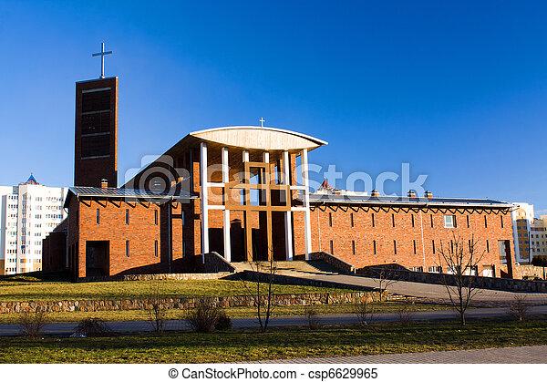 Modern Catholic church - csp6629965