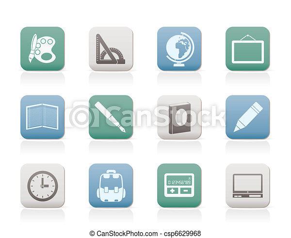 School and education icons  - csp6629968