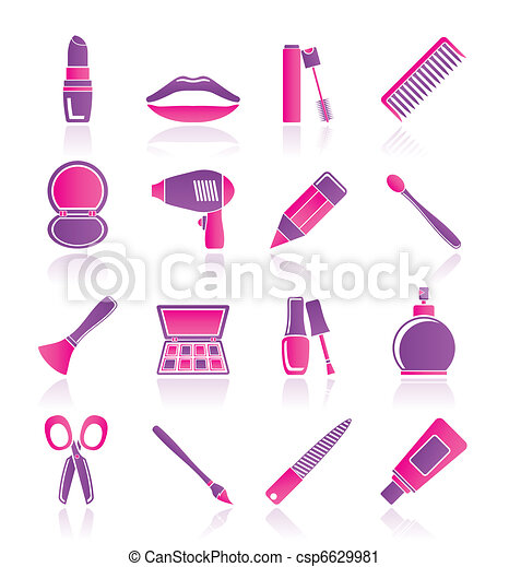 cosmetic, make up and hairdressing - csp6629981