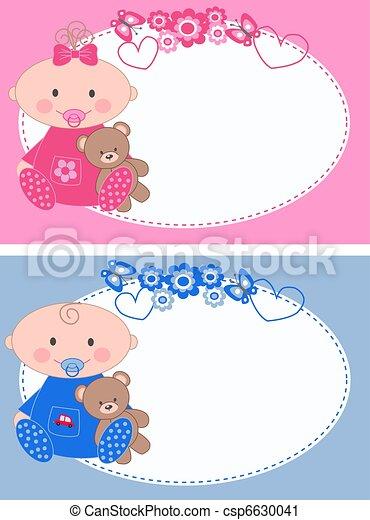 newborn baby cards - csp6630041