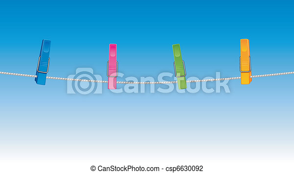 Colored clothespins - csp6630092