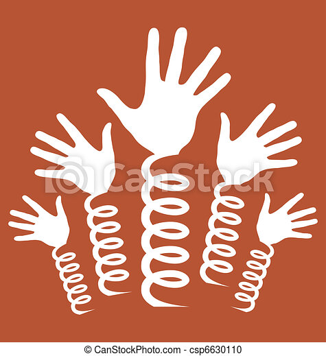 Hands on coil springs vector.  - csp6630110