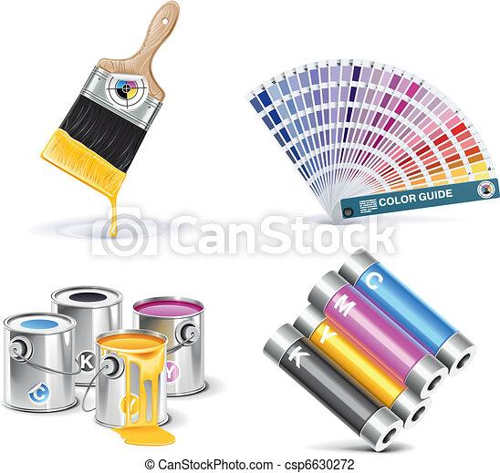 Vector print shop icon set. P.1 - csp6630272