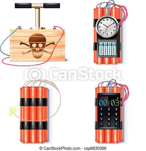 Explosive icon set - csp6630366