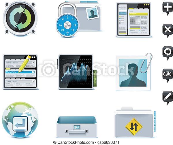 Server administration icons. P.2 - csp6630371