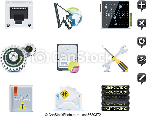 Server administration icons. P.3 - csp6630372