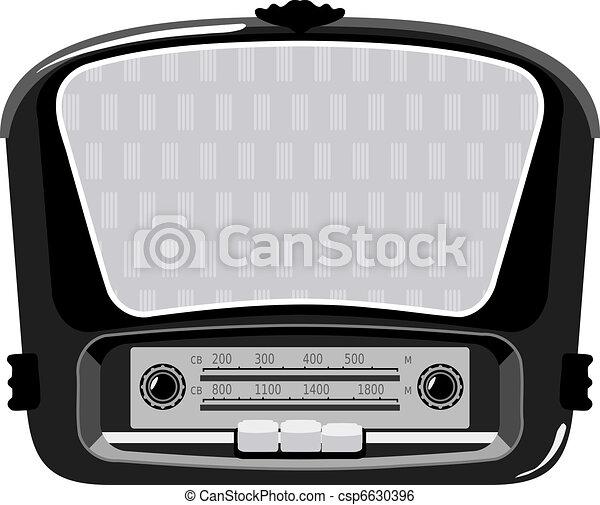 Old radio - csp6630396