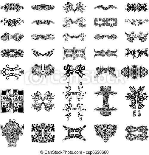 Vector Clipart of Unique Hand-drawn Vector Design Elements ...