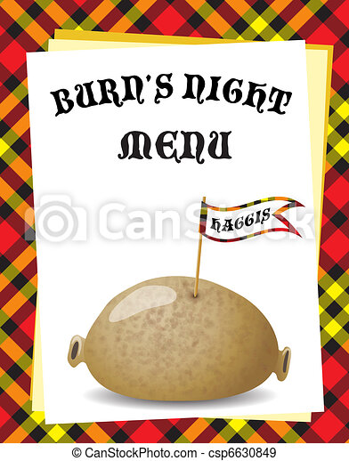 Burn's Night menu - csp6630849