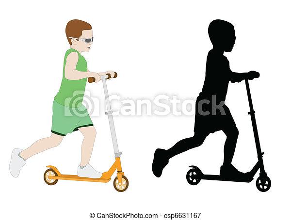 scooter kid  - csp6631167