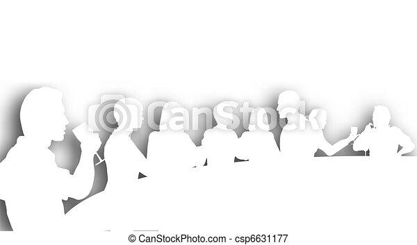 Wine bar cutout - csp6631177