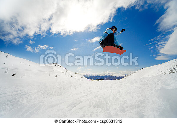 Snowboarding action - csp6631342
