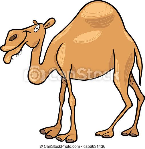 Clip art vecteur de dromadaire chameau dessin anim - Dessin dromadaire ...