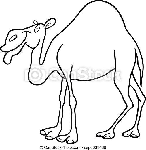Vecteur de dromadaire coloration livre chameau dessin - Dessin dromadaire ...
