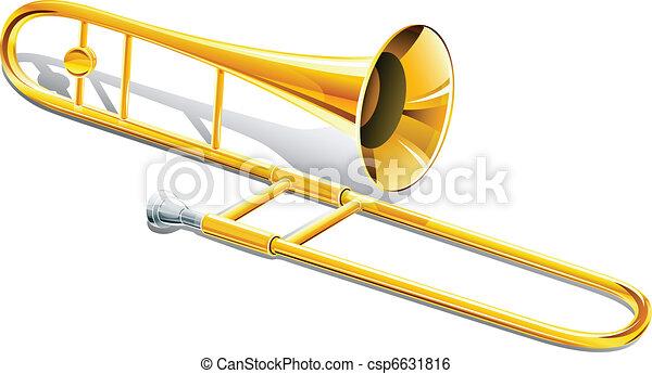 trombone musical instrument - csp6631816