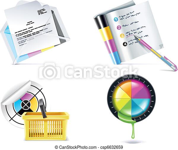 Vector print shop icon set. P.4 - csp6632659