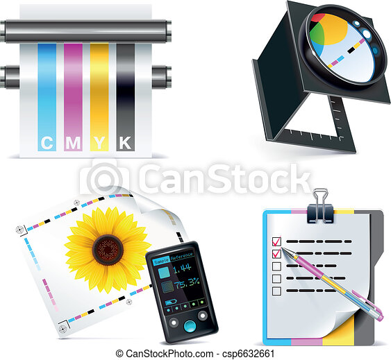 Vector print shop icon set. P.5 - csp6632661