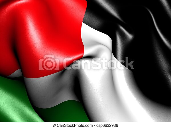 Flag of Palestine - csp6632936