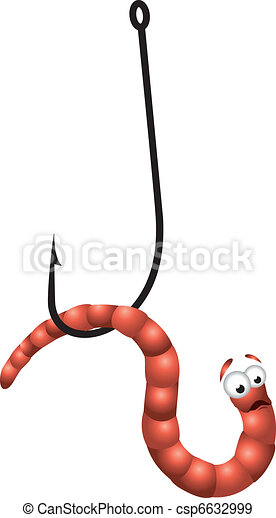 Worm on Hook - csp6632999