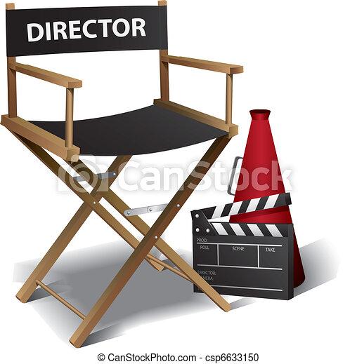 Movie director chair - csp6633150