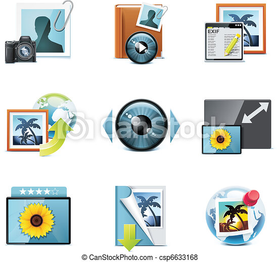 Vector photography icons. P.4 - csp6633168