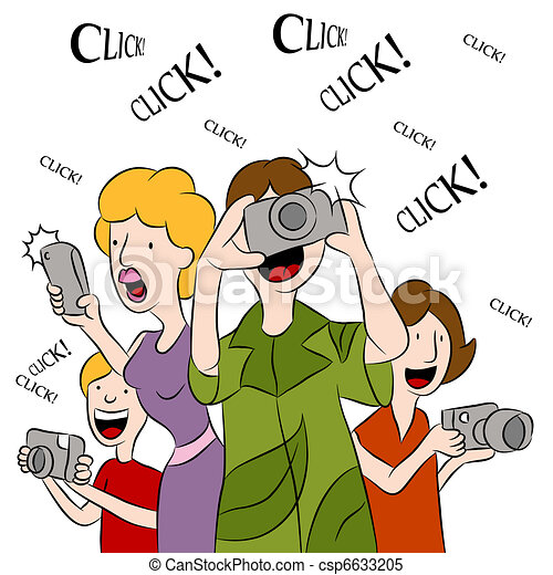 Clipart Vector of People Taking Pictures - An image of ...  Clipart Vector ...