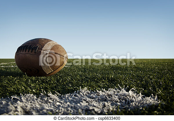 Football on Field - csp6633400