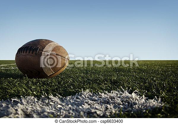 Football on Field - csp6633400