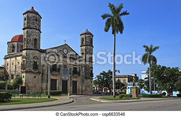 A view of Cathedral in Cardenas, cuban landmark - csp6633546