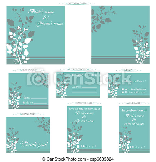 Wedding Reception Card - csp6633824