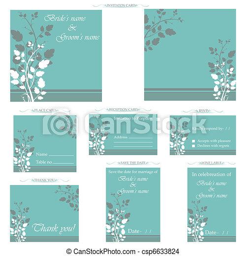 Wedding Reception Card - csp6633824