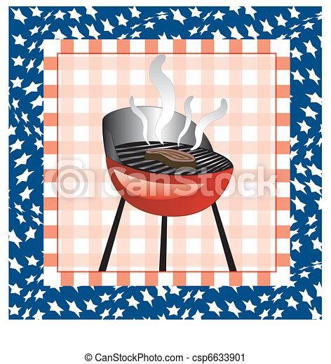 July 4th BBQ Background - csp6633901